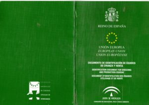 ANDALUCIA Goverment Duplicate Passport Cover