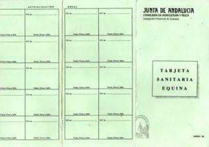 Tarjeta Sanitaria Equina - Andalucia P1